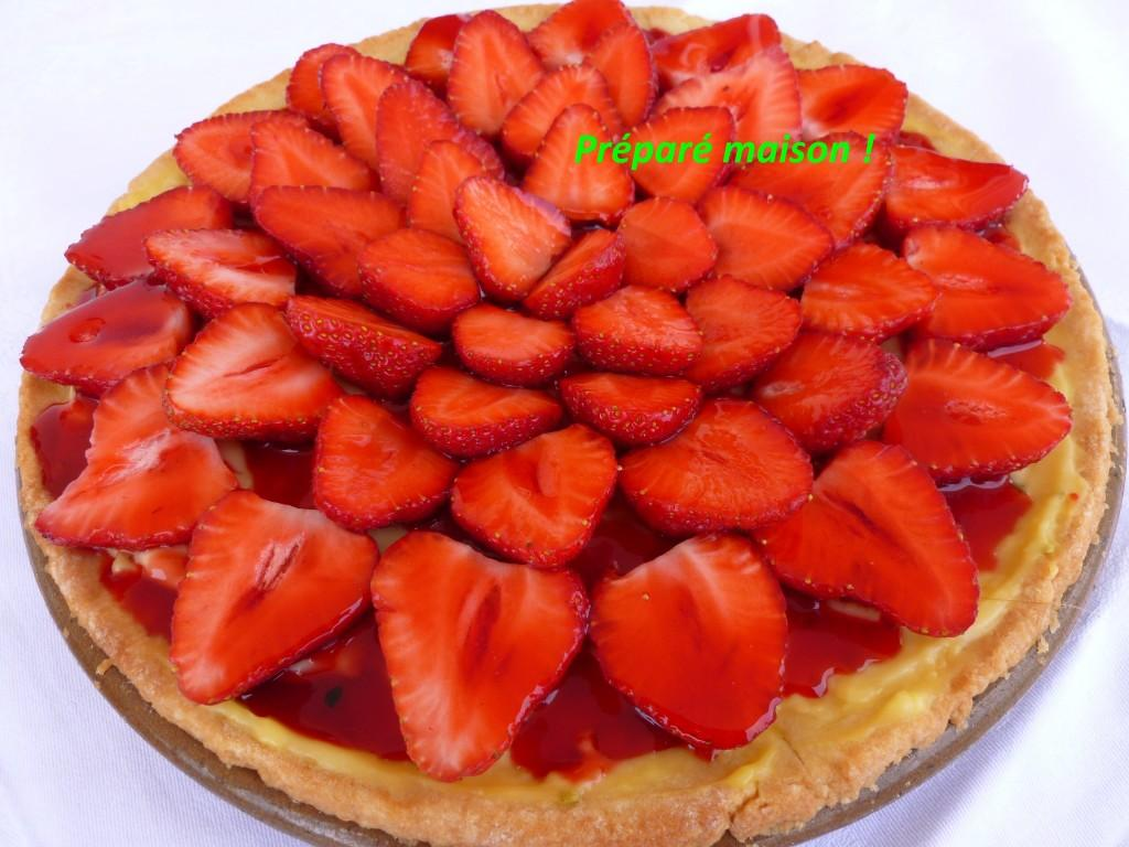 Tarte sable fraises et citron vert