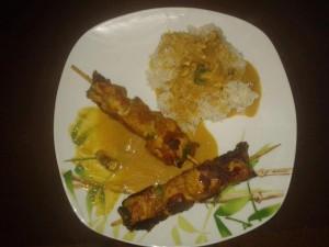 Brochettes de poulet façon Satay – de Nancy