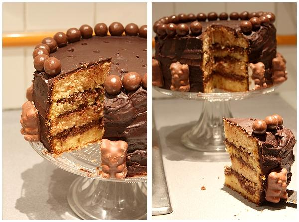 GateauCroustiChoco5 Gteau crousti choco : Premier essai de sky high cake (ou layers cake)