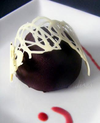 Bavarois Vanille Framboise Chocolat (version dômes)