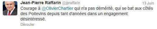 Tweet Raffarin - parodie Trierweiler