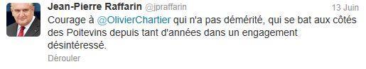 Tweet Raffarin - parodie Trierweiler