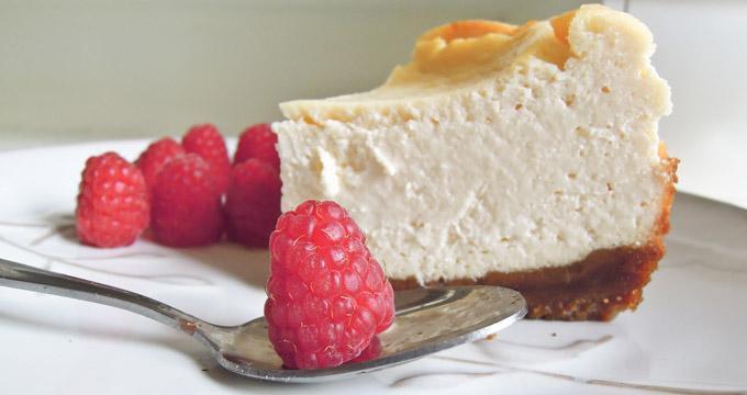 Cheesecake à l'italienne chocolat blanc & framboises – Homemade