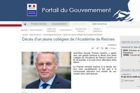 Boulette : Jean-Marc Ayrault annonce la mort du jeune garçon de Rennes par erreur !