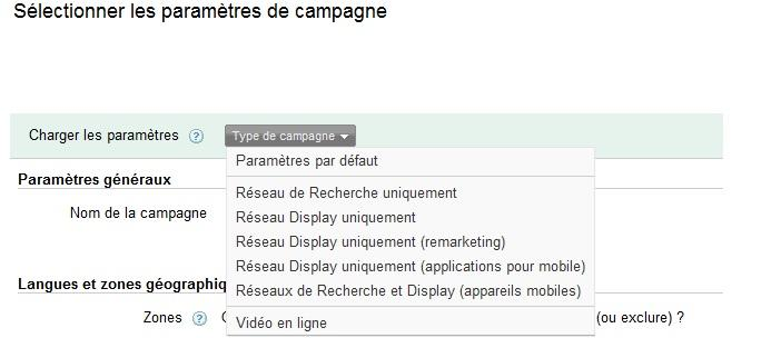 Réseau Search ou Display sur google adwords