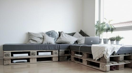 Palettes : idées déco pour un canapé outdoor