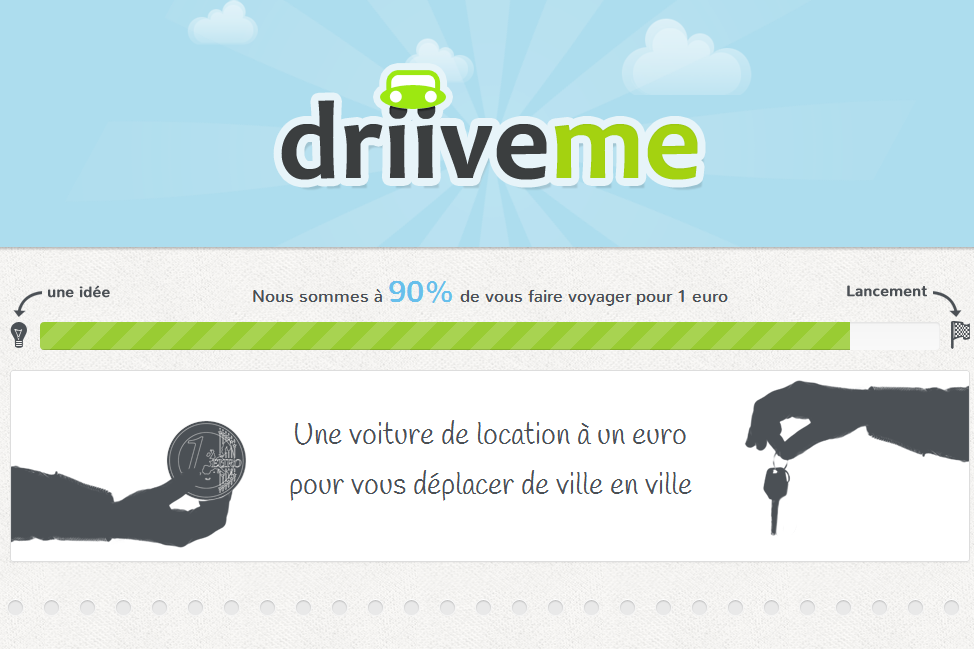 La location de voiture  1 euro