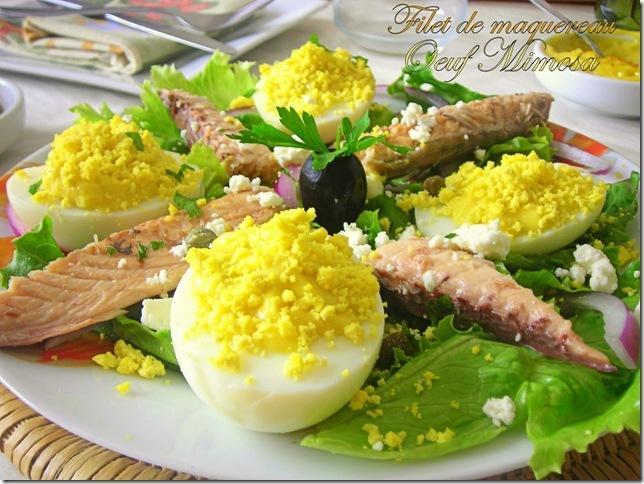 Filet de maquereau et oeuf mimosa paperblog - Cuisiner filet de maquereau ...