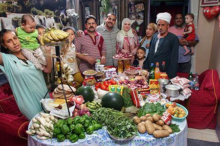 Ce que mangent les familles du monde…
