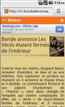 Bande Dessinée Info en version mobile