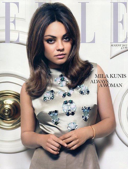 Mila Kunis sublime le Elle UK d'aout 2012 !