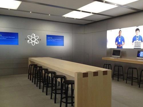 Apple teste les nouveaux Genius Bar...