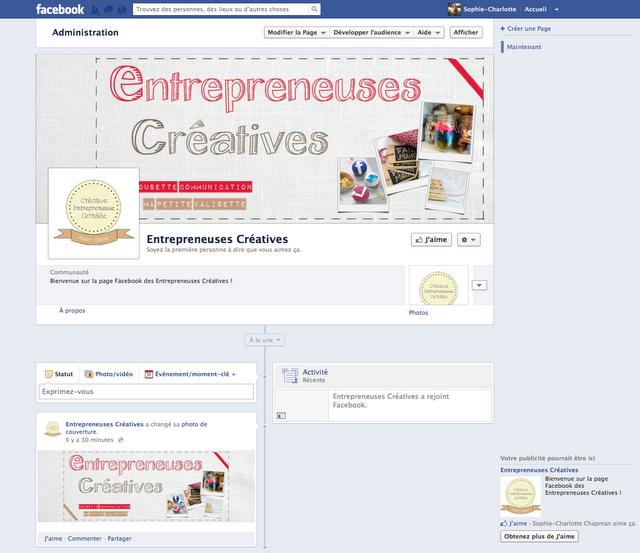 Nouveau : les Entrepreneuses Créatives ont désormais leur page Facebook !
