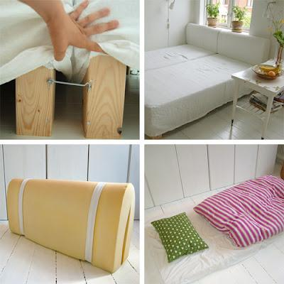 diy un canap convertible homemade paperblog. Black Bedroom Furniture Sets. Home Design Ideas