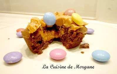 Petits brownies au beurre de cacahuète et smaarties