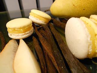 Macarons vanille et poire