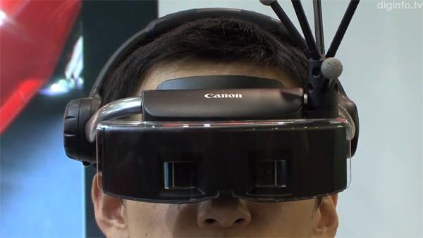 Canon aussi a ses lunettes high tech