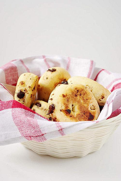Muffins anglais au sirop d'erable, noix et pépites de choc