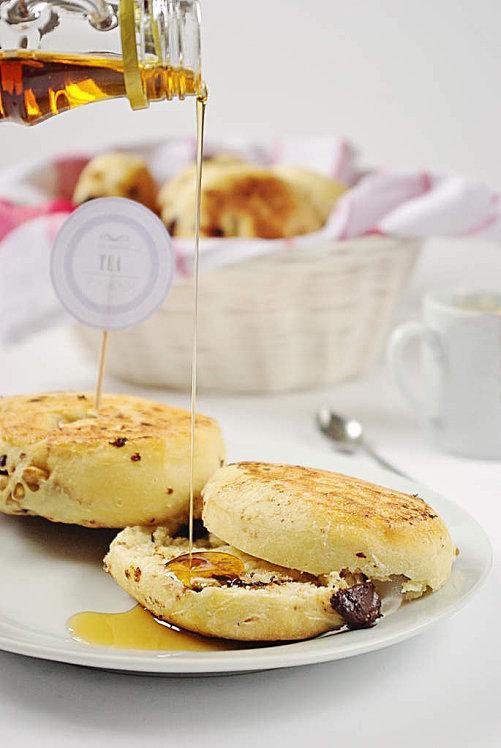 Muffins anglais au sirop d'erable, noix et pépite-copie-4