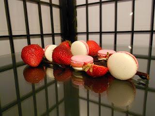 Macarons vanille et fraise