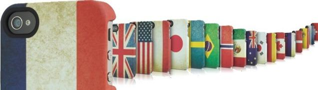 Uniquement chez Apple. Exclusivité Apple Store: La coque ''patriotique'' pour iPhone...
