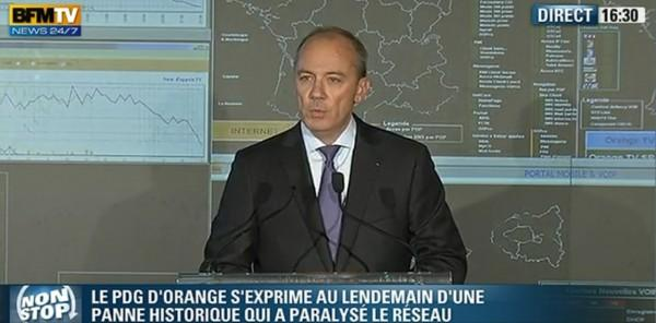 Orange : Stéphane Richard s'explique sur la panne d'hier