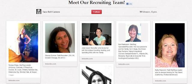 Taco Bell Careers : animation très visuelle et Facebook comme présence web de synthèse