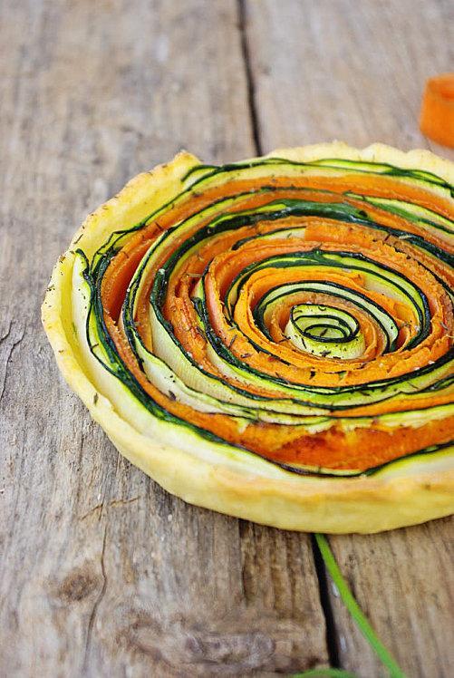 Tartes aux légumes courgettes et carottes 2