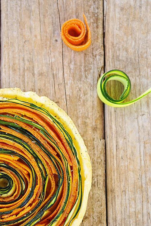 Tartes aux légumes courgettes et carottes 1