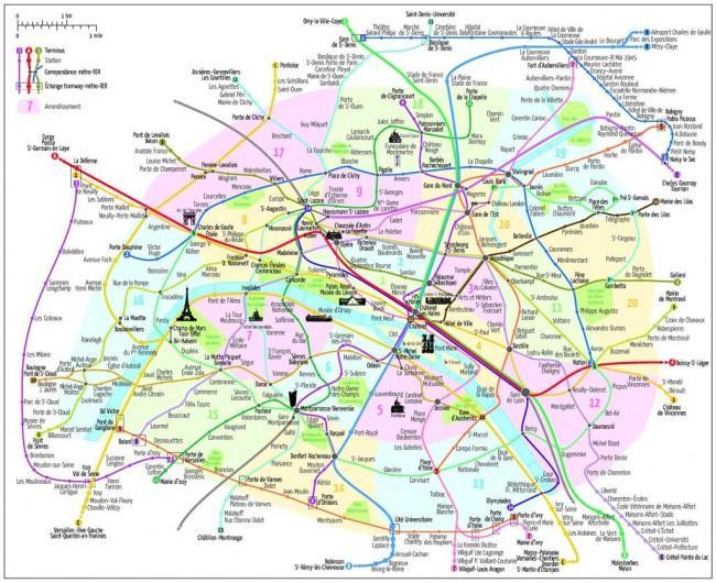plan de lyon avec arrondissement