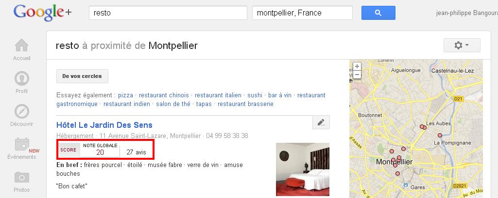 Resto près de Montpellier Google