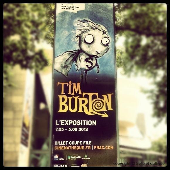 Exposition Tim Burton Cinémathèque de Paris Bercy