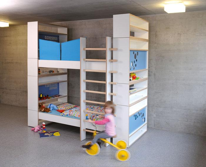 kajutenbett un syst me de lits superpos s modulable et. Black Bedroom Furniture Sets. Home Design Ideas