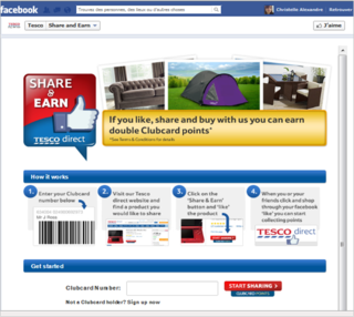 Tesco share and earn