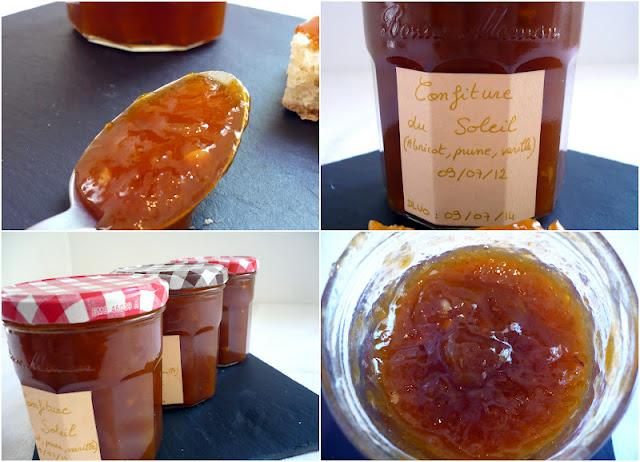 Confiture du soleil : abricot-prune-vanille