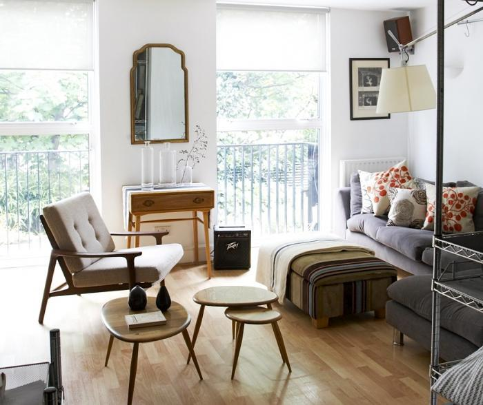 Un petit appartement londonien u00e0 lu2019esprit vintage - Paperblog
