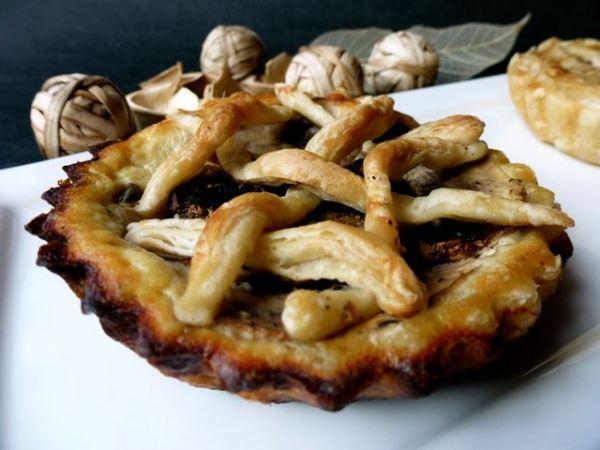 Tarte aux champignons au chèvre frais et à la Ricotta déguisée en tarte aux fruits