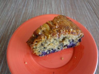 Le gâteau aux myrtilles et lait ribot de Pascale Weeks