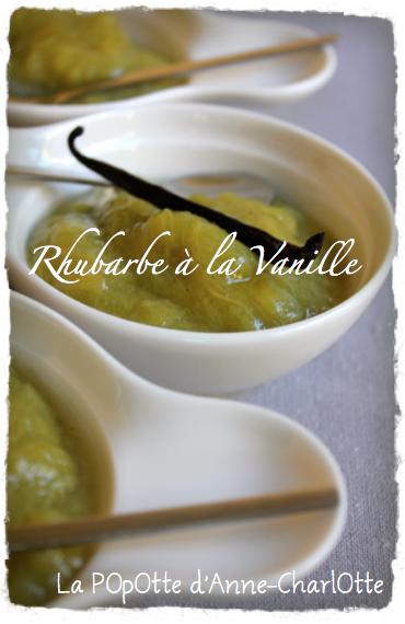 Rhubarbe à la Vanille