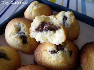 Madeleines au Nocciolata : pâte à tartiner au cacao & noisettes