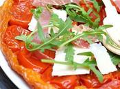 Tatin tomates cerises, roquette jambon Aoste
