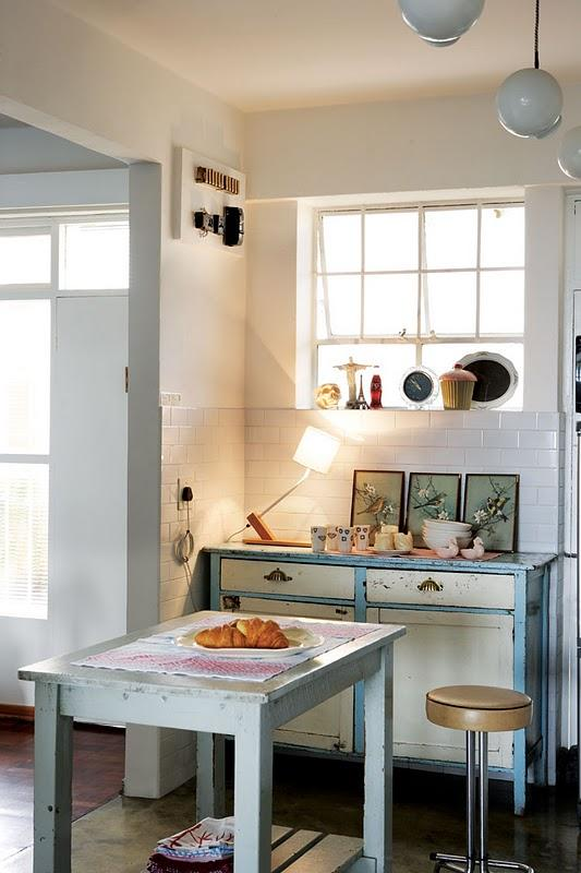 Visite déco : Un petit appartement vintage