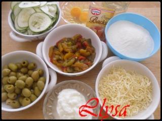 Bouchées aux légumes et aux olives