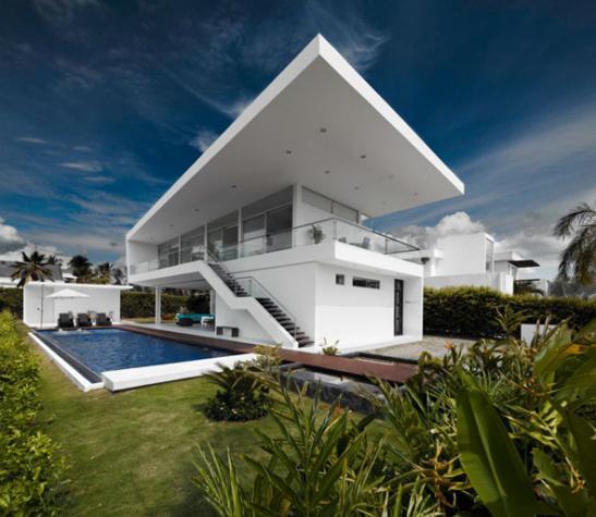 Une maison minimaliste girardot paperblog for Maison minimaliste