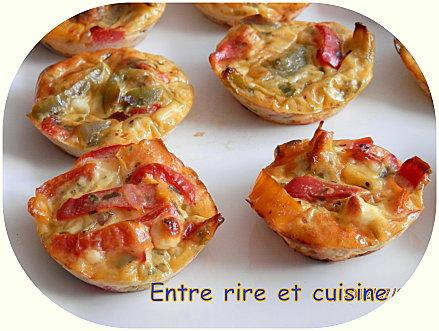 mini quiches sans p te feta et poivrons au fromage blanc paperblog. Black Bedroom Furniture Sets. Home Design Ideas
