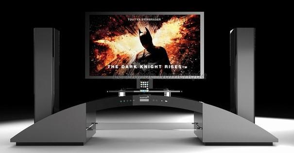 Meuble tv blanc home cinema solutions pour la d coration int rieure de votr - Meuble tele home cinema ...