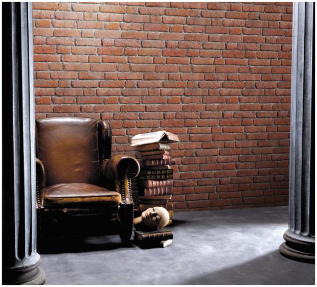 papier peint trompe l oeil chic et choc paperblog. Black Bedroom Furniture Sets. Home Design Ideas