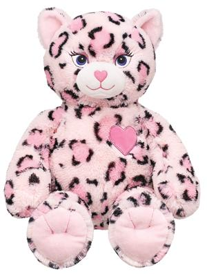 Build a bear Workshop piink leopard léopard rose