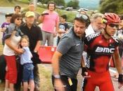Tour france Philippe Gilbert chute cause d'un chien