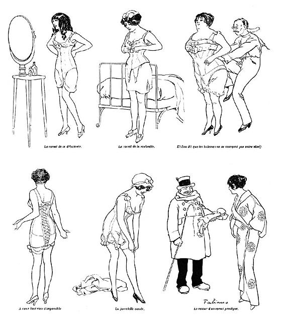Le corset - La vie parisienne - 1912